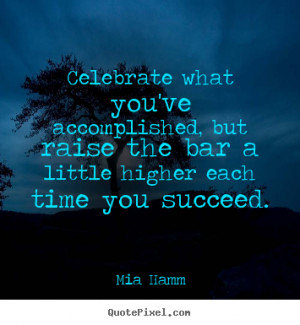 mia hamm success quote print on canvas customize your own quote image