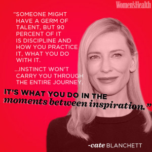 Cate Blanchett - nominated for Blue Jasmine