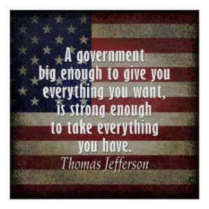 Quotation about Limited and Big Government Print