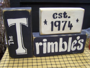 Family Name Signs Wood