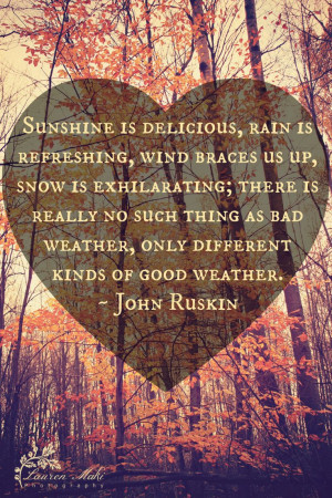Weather quote, sunshine, delicious, rain, snow, happy