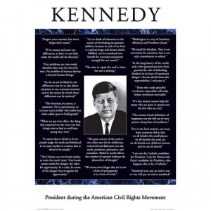 Aquarius Kennedy Quotes Poster $ 7.99