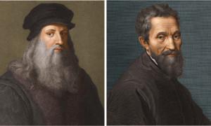 rivalidade entre Michelangelo e Da Vinci
