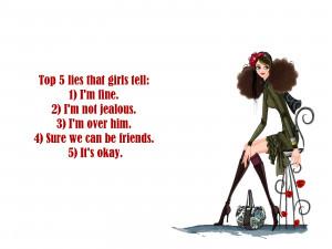 Top 5 lies that girls tell: