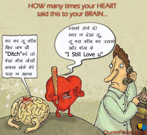 Heart Vs Brain Quotes Quotesgram