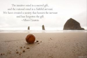 Albert Einstein Quote on the Intuitive vs the Rational Mind