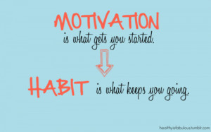 Motivation is what gets you started...