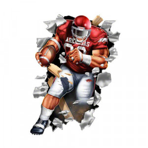 NCAA - Arkansas Razorbacks Football Player Wallcrasher