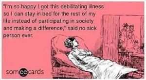 "But it's not my fault I'm sick!"""