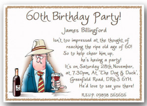 40th / 50th / 60th / 70th / 80th funny Birthday Party Invitations