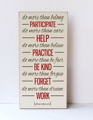 Inspiration Quote Wood Sign, Do More Than, Wooden Wall Art, Home Decor ...