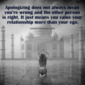 apologize #relationship #love #quotes