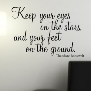 Keep your eyes on the Stars' wall quote sticker - WA503X