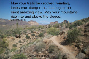 Mountain Bike trail love. Great quote from Edward Abbey. # ...