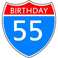 55th Birthday Wishes and Sayings