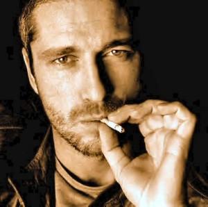 Gerard Butler Smoking Winston Cigarettes