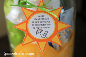 DIY: End of the Year Teacher Gift for Summer