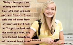 Showing Gallery For Quotes About Being A Teenage Girl