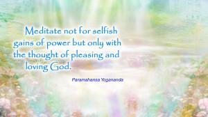 Meditation Quotes Yogananda meditate god