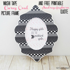 ... Quotes And Sayings » Girl Loves Glam Design In Simple Black White