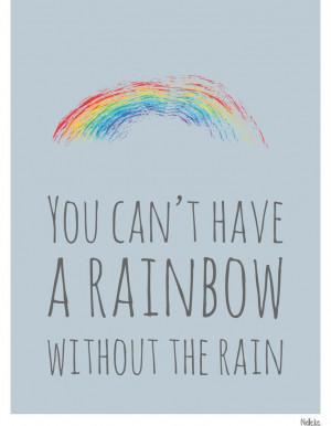 Rainbow Rain Quote