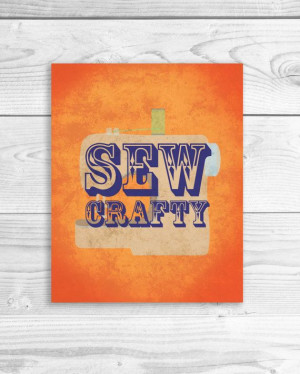 Sewing Machine Art Print, Craft Quote, Handmade Quote Poster Sign 8 x ...