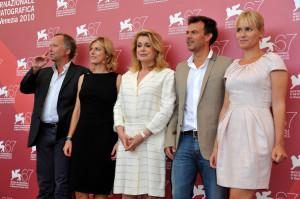 Judith Godreche And Fabrice Luchini Potiche Premiere Venice