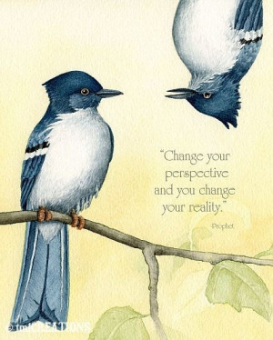 Chage your perspective and you change your reality. (Prophet)