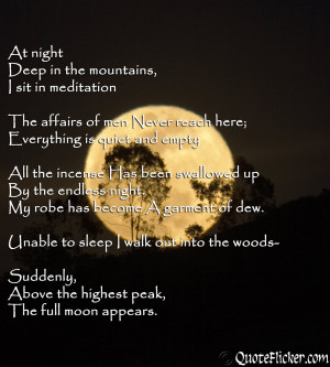 ... Full Moon Love Quotes . Full Moon Poems . Full moon shines in the