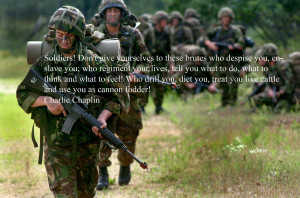 quote:Soldiers, don't give yourselves to these brutes... Charlie ...