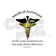 medical assistant shirt designs | Medical Assistant Rectangle Sticker ...