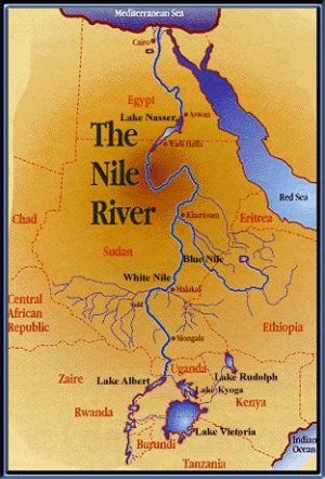 ... the nile river | the nile river is located in egypt the nile river map