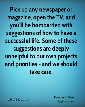 ... unhelpful to our own projects and priorities - and we should take care