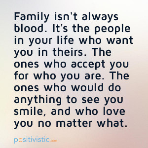 quote on how family isn't always blood: quote family people blood ...