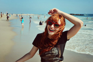 cute, ginger, girl, glasses, grunge, hair, happy, hipster, photograpy ...