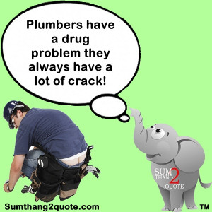 quote of the day, quotes, funny, humor, silly, plumbers, problem ...