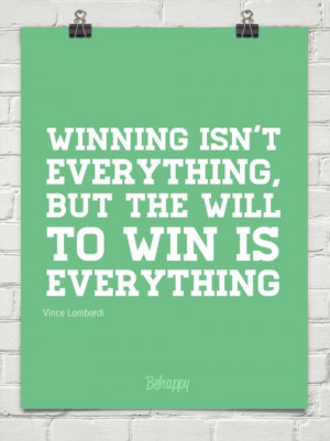 Vince Lombardi winning quotes