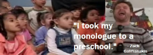 Zach Galifianakis Does Stand-Up For Preschool Kids