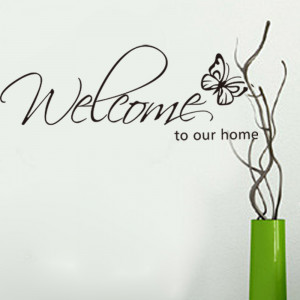 Welcome-to-Our-Home-Vinyl-Lettering-Stickers-Quotes-Black-Cute ...