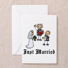 Just Married Announcement Cards (6) for