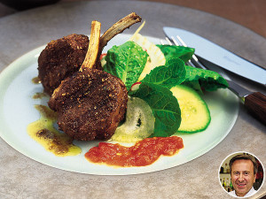 Daniel Boulud's Marinated Lamb Chops with Two Sauces