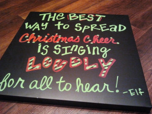 Cheer Quotes Elf christmas cheer quote