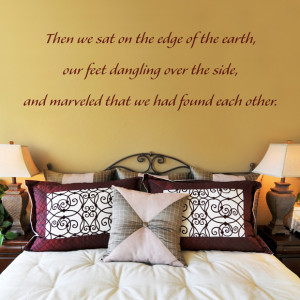 We Found Each Other - Quote - Wall Decals