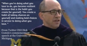 ... CEO Dick Costolo at the University of Michigan #inspiration #quote