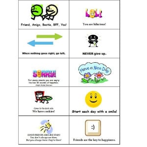 Free Note Cards for the Lunch Box, Backpack or Briefcase of Someone ...
