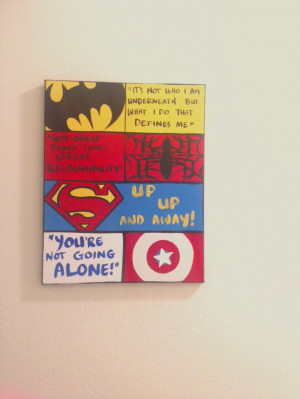 ... 16 x 20 Canvas Wall Art: Kids Superhero Quotes, Comic Book Style