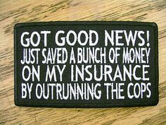biker quotes | Got Good News Funny Sayings Vest Patch Motorcycle Biker ...