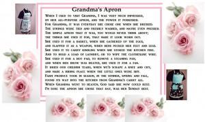 GRANDMA'S APRON Poem
