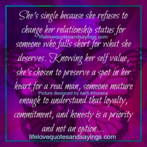 she s single because she refuses to change her relationship status for ...