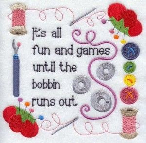 Funny Quilting Bobbin Picture